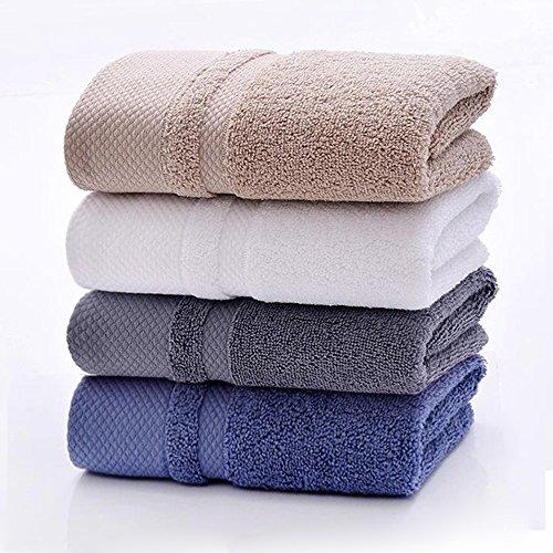 HONEYJOY Soft Luxury Hand Towels Set (White Grey Blue Khaki, 13.38 x 29.5 Inches, 4-Pack) - 100% Cotton Towel, Multipurpose Use for Face, Bath, Gym, Spa, Family (Bright White Waffle)