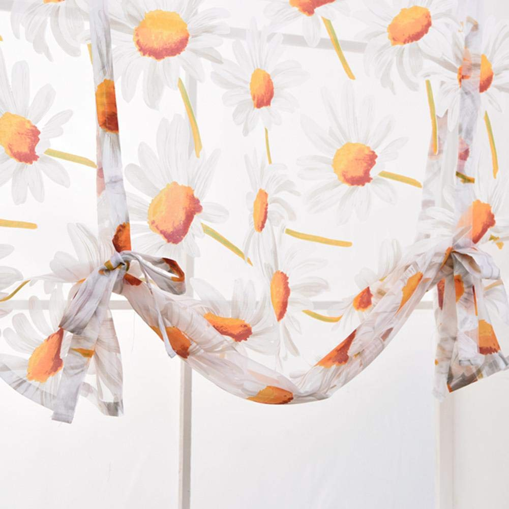 D 120 120 cm ancho alto Wovemster Cortina corta con motivos florales de Sun La mejor decoraci/ón para la decoraci/ón de la cocina de la habitaci/ón del hogar