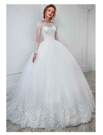 Amazon.com Womens Wedding Dresses Ball Gown 2019 Long