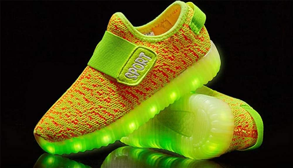 Sunny Day Kids Boys Girls Breathable LED Light Up Shoes Flashing Sneakers