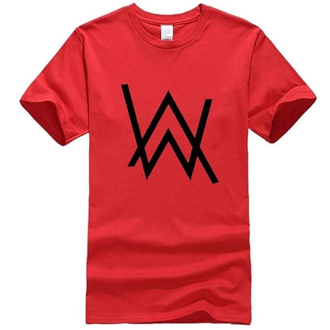 Amazon.com: Alan Walker Camiseta de algodón desteñido Merch ...