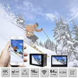 Sport-Action-Camera-4K-Ultra-HD-30fps-Wifi-Waterproof-Cam-DV-Camcorder-SONY-Sensor-12MP-170-Degree-Wide-Angle-2-inch-LCD-Screen-Silver