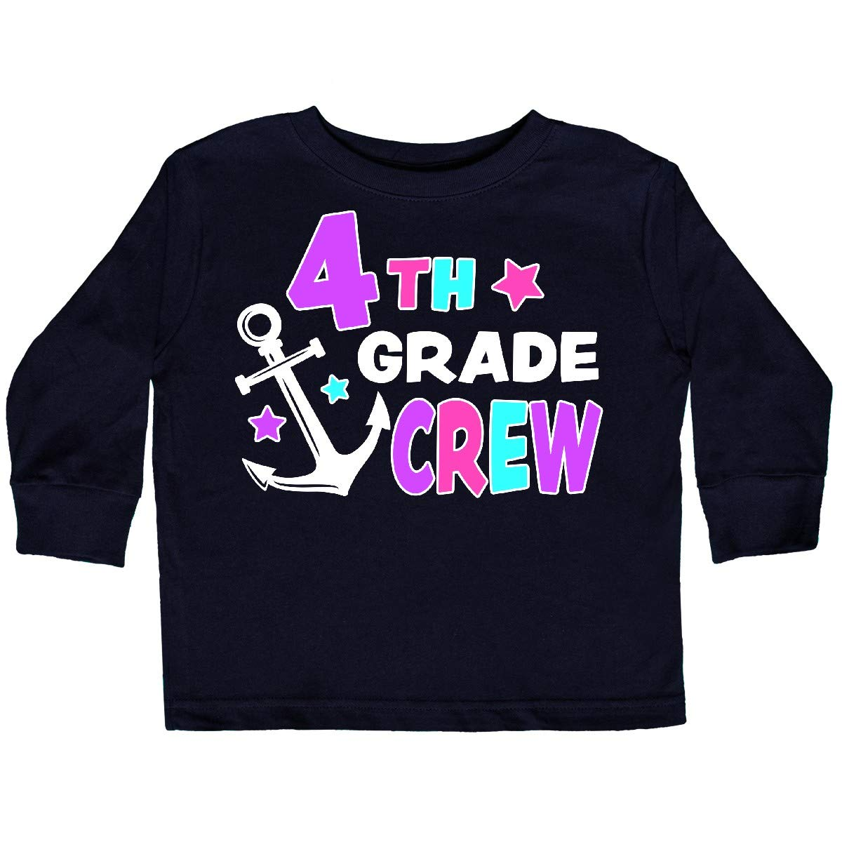 inktastic 4th Grade Crew Toddler Long Sleeve T-Shirt