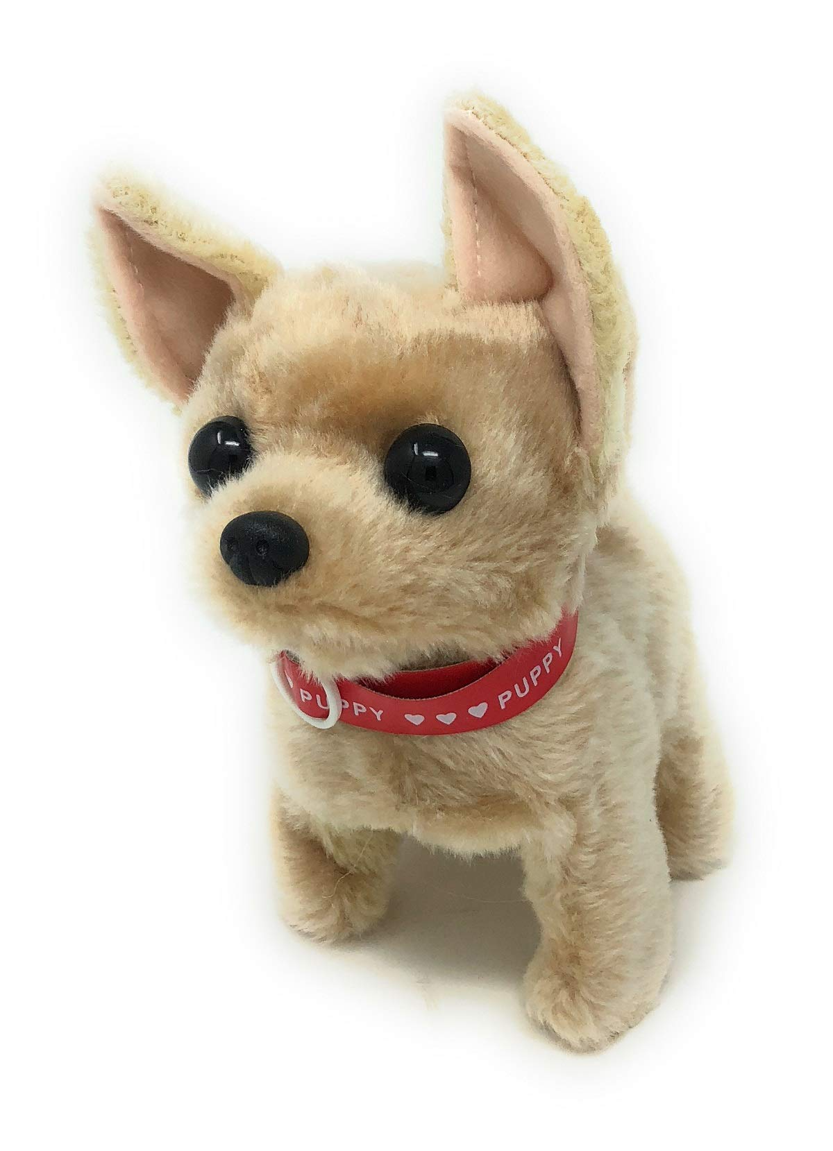 Walking Toy Puppy | Battery Operated Walking, Tail-Wagging and Mechanical Barking Electronic PIush Animal Dog by JoyABit (Image #1)