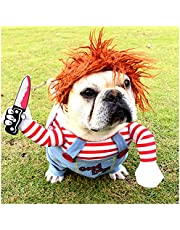 Cuteboom Pet Awful Costume Dog Halloween Clothes Cat Cosplay Party Suit Funny Dog Costume Small to Large Dogs