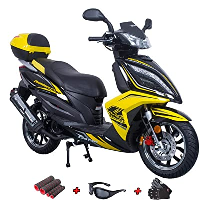 Amazon com: 150cc Moped Scooter Adult Gas Scooter 4 stroke
