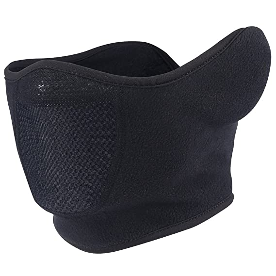 bda101d6954 Windproof Balaclava Fleece Hood with Neck Cover Half Face Ski Mask with Air  Hole (Half Mask)  Amazon.in  Clothing   Accessories