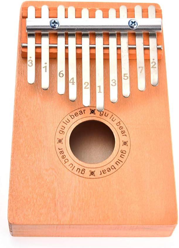 szkn 10 Keys Wooden Kalimba Thumb Finger Piano Musical Instrument Study Instruction Kids Christmas Gift Children Toys