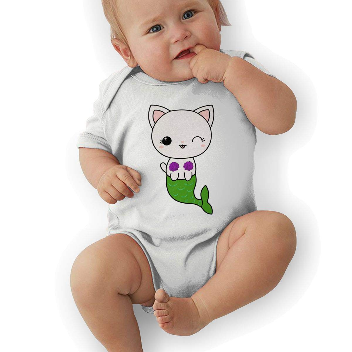 Cat Mermaid Baby Boys Girls Jumpsuit Overall Romper Bodysuit Summer Clothes