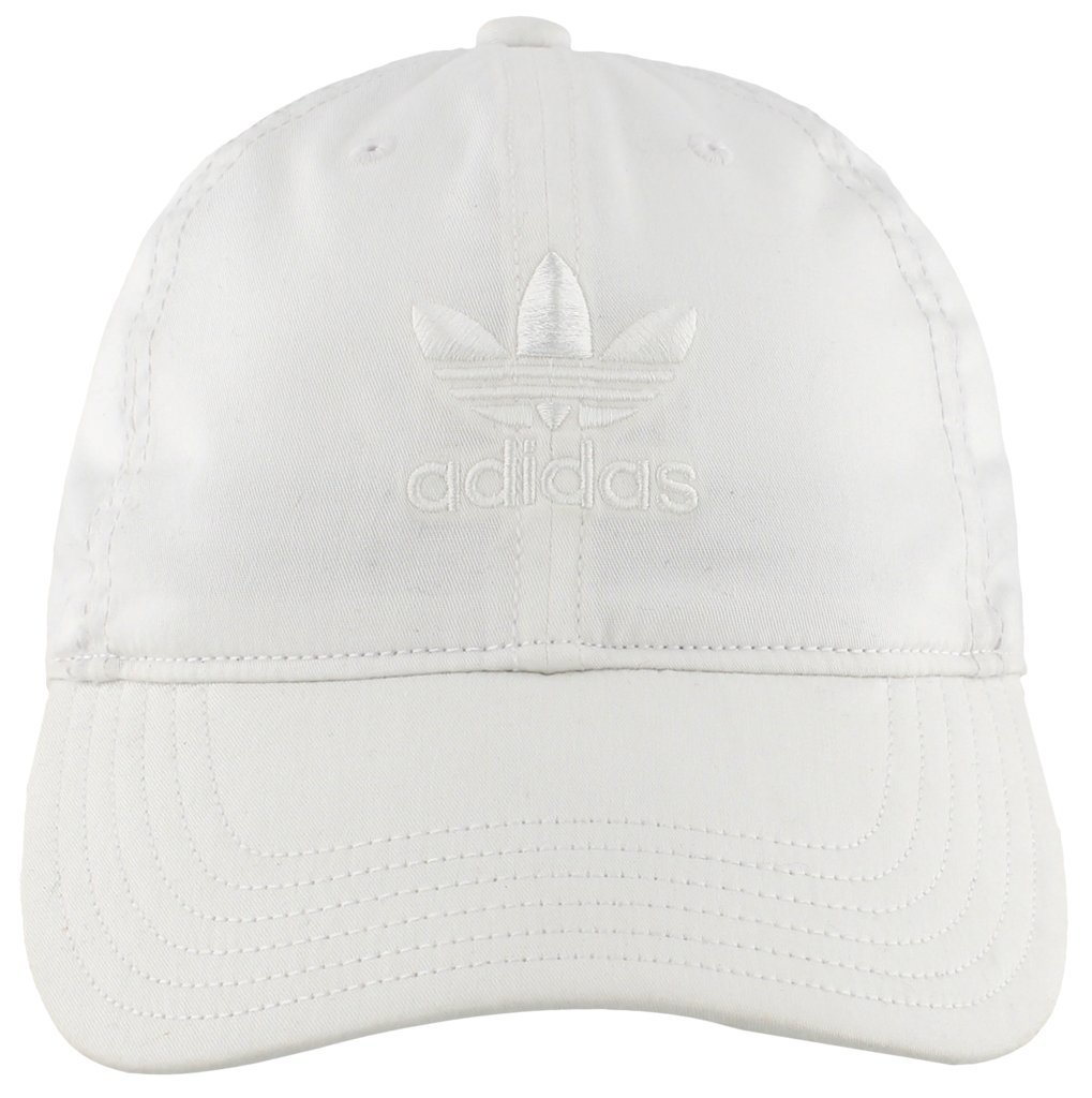 adidas Women's Originals Relaxed Adjustable Strapback Cap, White/White, One Size