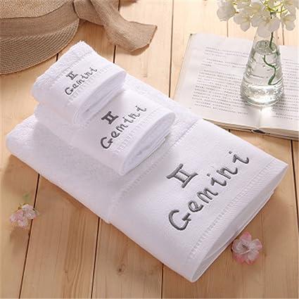 Amazon.com: 3 Piece 100% Cotton White Towel Set Constellation