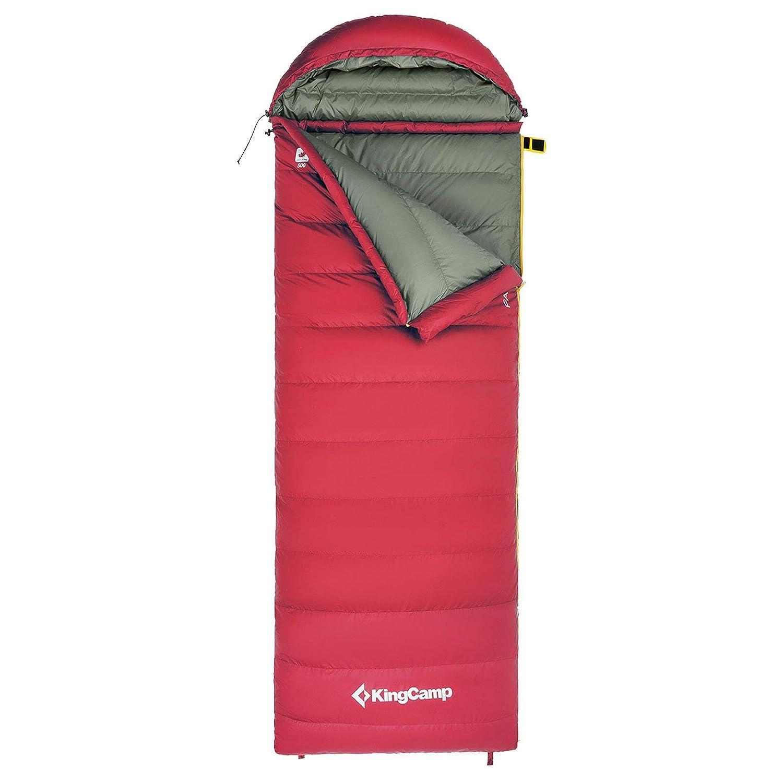 -14.8/°F mit abnehmbarem Kopfteil Warm Ultraleicht Deckenschlafsack f/ür Camping Trekking Wandern Zuhause Rucksackreisen, /× 80 cm KingCamp Daunenschlafsack 26/°C 185 + 35
