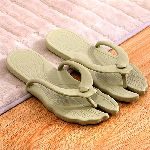 Flip Beach Portable Summer Simple Green Foldable Flops Eastlion Slippers Thong Unisex xX410wTX