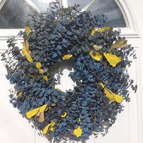 Blueberry Marmalade with Lemon Eucalyptus Wreath 17 Inch (Blueberry Wreath)