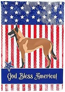 Caroline's Treasures BB8413GF Malinois Belgian Shepherd American Garden Flag, Multicolor
