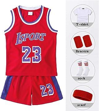Traje de Baloncesto para niños, Camiseta No. 23 de Los Angeles ...