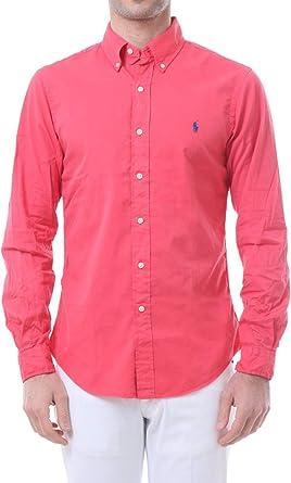 Polo Ralph Lauren Mod. 710787192 Camisa Popelín Slim Fit Hombre Rojo XL: Amazon.es: Ropa y accesorios