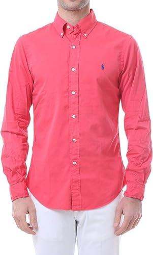 Polo Ralph Lauren Mod. 710787192 Camisa Popelín Slim Fit Hombre Rojo M: Amazon.es: Ropa y accesorios