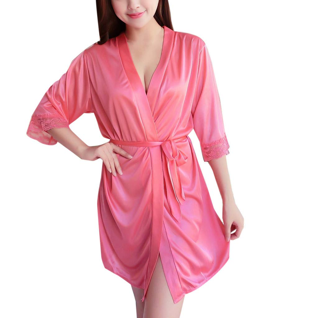 Womens Sexy Pajamas Ice Silk Temptation Lingerie Sleepwear Underwear Night Gown