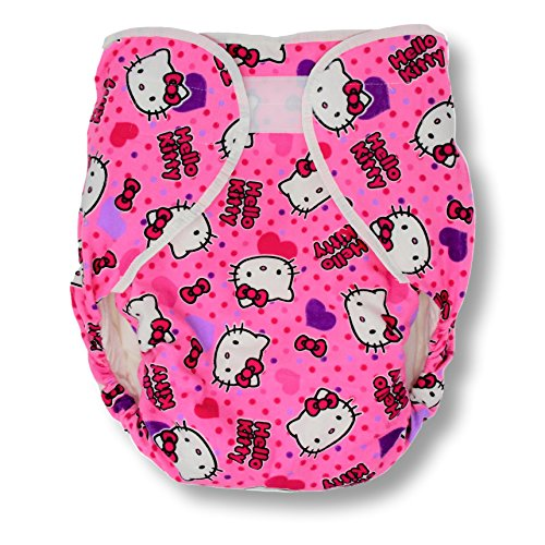 Rearz - Bulky Fitted Nighttime Cloth Diaper (Pink - Kitty) (Small/Medium) ()