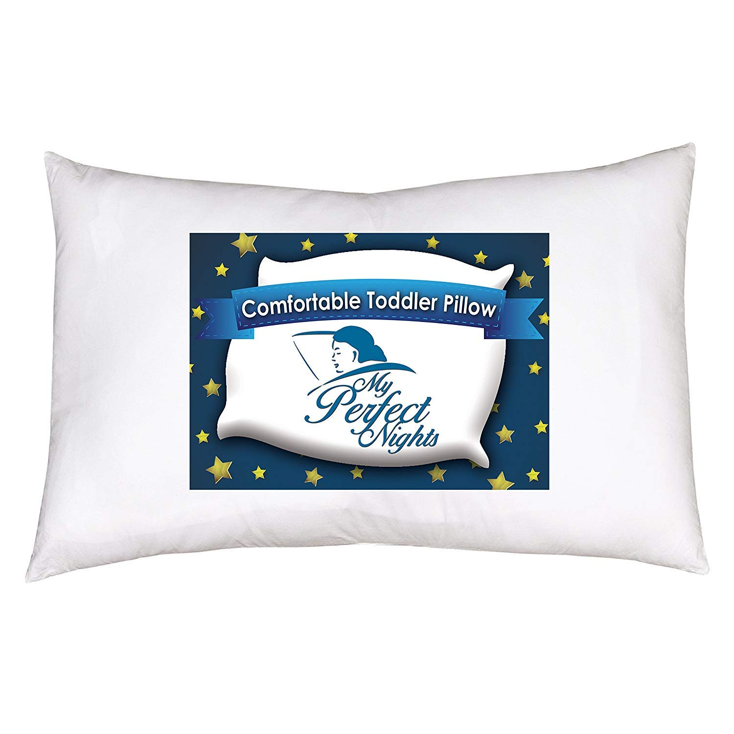 My Perfect Nights Toddler Pillow with Pillowcase 13 x 18 White