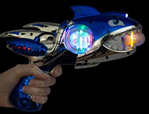 Imprints Plus Shark Blaster LED Toy Gun, Includes 3 AA Batteries and Non-Negotiable Liberty Bill (2 Piece Bundle)