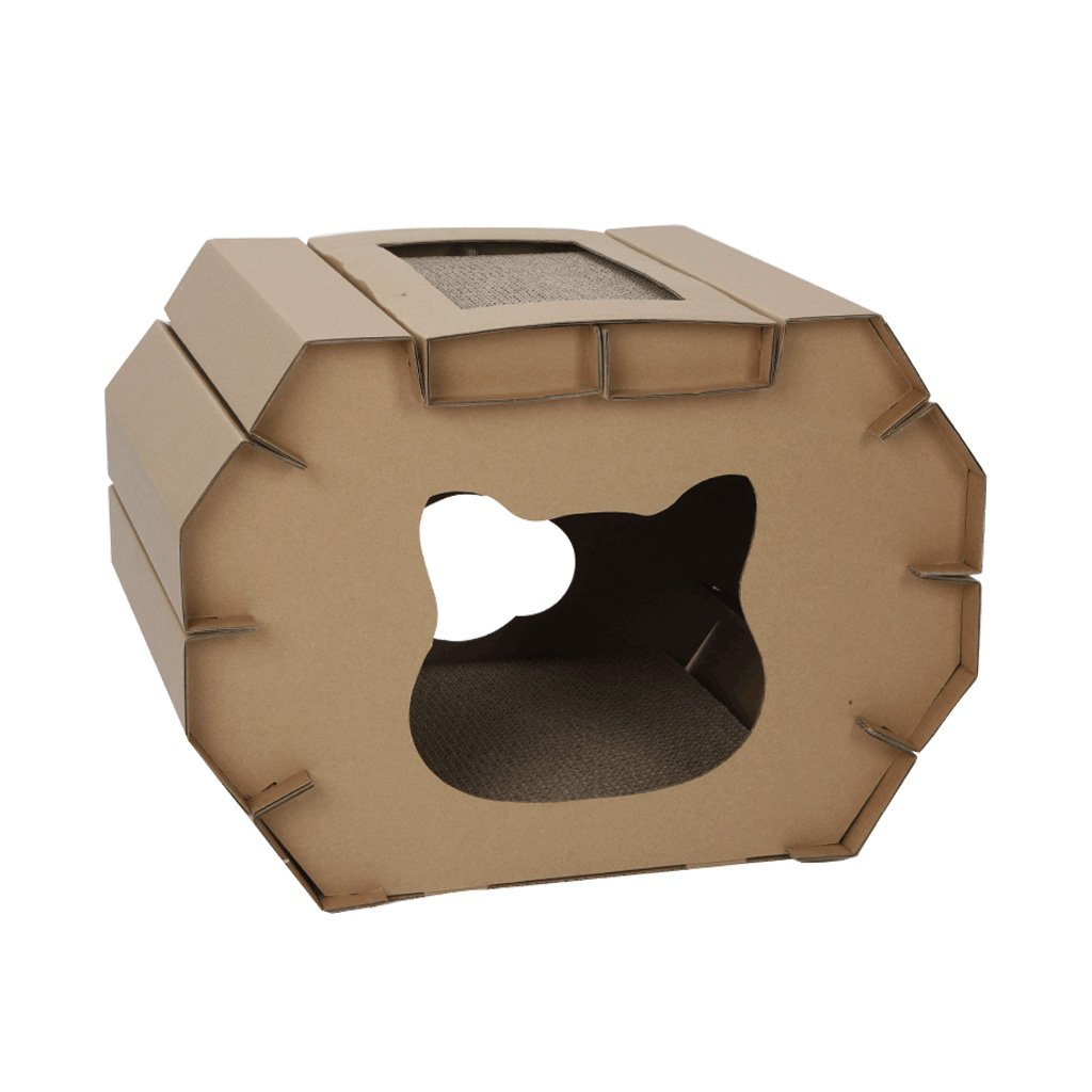 Cat Toy Corrugated cat House Double-Layer Honeycomb Claw House pet cat Supplies