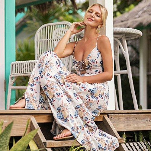 Abito Abiti Sling lungo estivi Stampa dimensioni Sexy S S donna Vestiti Backless WANG XL Hf8Twx4qFw
