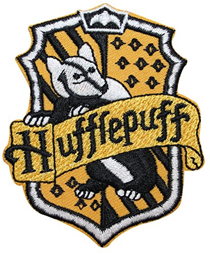 Hufflepuff Hogwarts' House Crest Harry Potter Embroidered Iron On Applique Patch (Hufflepuff Robes)