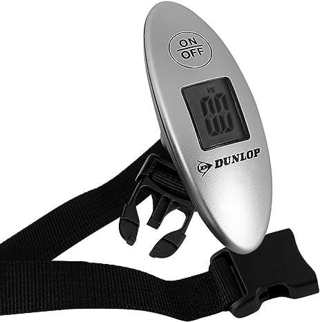 Dunlop - Báscula para equipaje Báscula digital para maletas Báscula Portátil Pantalla LCD 0-40