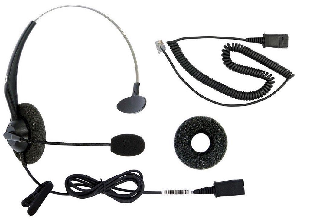 DailyHeadset RJ9 Corded Phone Headset for Corded Home Telephones Office IP VoIP Analog Phones Aastra Avaya Digium Mitel NEC Polycom ShoreTel Toshiba Phone