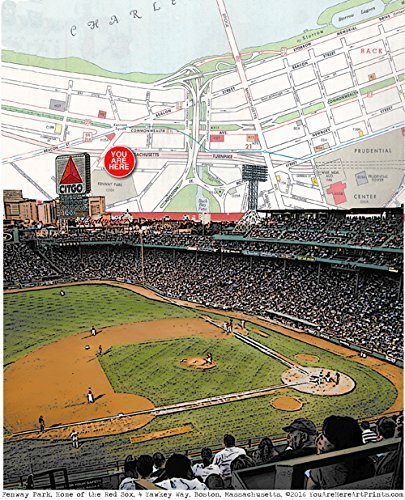 (Baseball, Fenway Park, Home of the Green Monster & Citgo sign, 2013 & 2018 World Champion Red Sox Boston Mass fine art print. Gallery quality unmatted 8.5