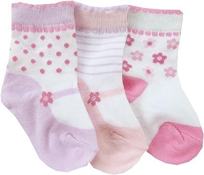 NUEVO | niña Pack de 3 calcetines calcetines bailarinas Color Rosa | 15 16 17 18 19 20 21 22 Talla:19-22: Amazon.es: Bebé