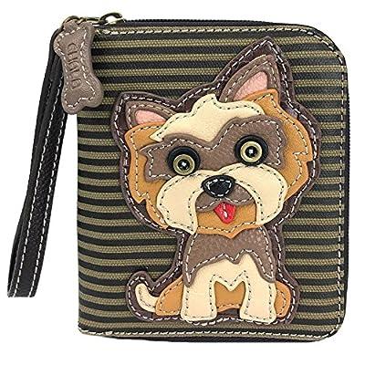 Chala Yorkshire Terrier Zip-Around Wristlet Wallet - Dog Mom Gift
