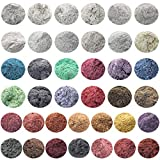 10g, 20g, 50g Cosmetic Grade Natural Mica Powder Pigment for DIY Soap Candle Making,Bath Bombs,Eyeshadow,Lipsticks Toiletry Crafter 38 Color (38 All Colors, 50g)