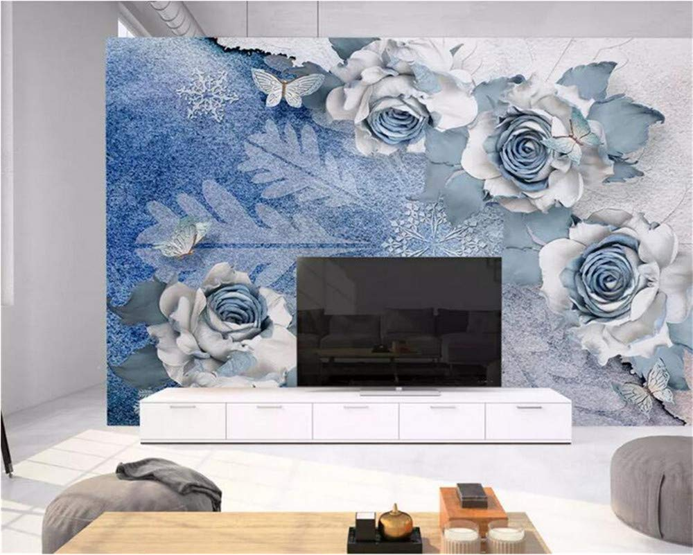 Weaeo カスタムファッション高品質の壁紙風スノーフレークの背景3次元花の背景壁の3D壁紙-400X280Cm B07GLKWXK2 400X280cm 400X280cm
