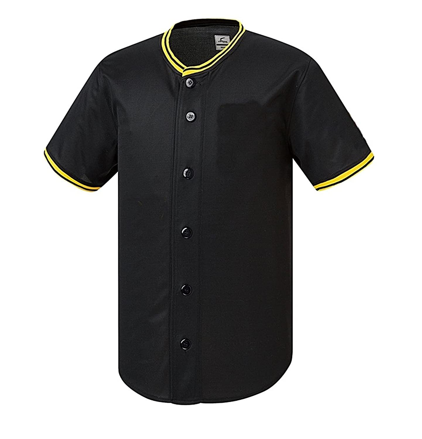 myglory77mall SHIRT メンズ B06XKRR7RZBlack/Yellow Neck XXS US(S tag Asian)