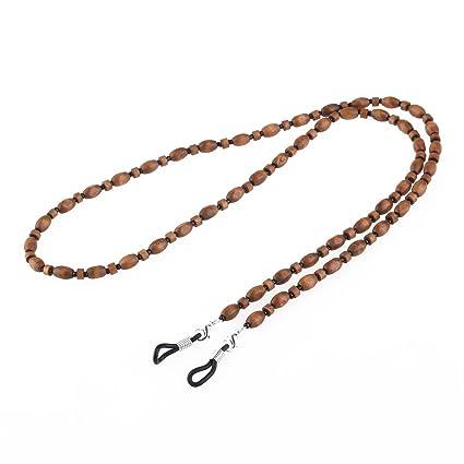 UEETEK Grano de madera Vintage hecho a mano gafas gafas de sol cadena cordón cuello de cadena Holder(Eyeglass Not Inlcuded)