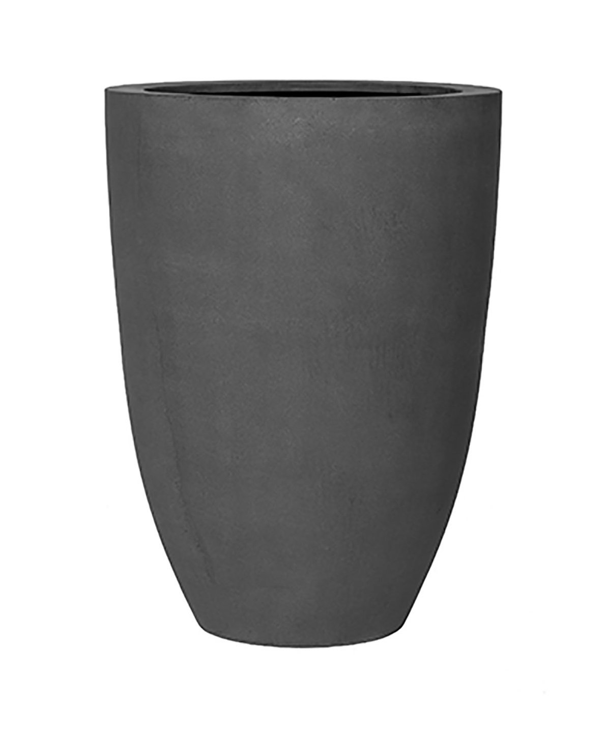 Ben XL Tall Gray Flower Planter Tapered Cylinder Fiberstone Vase 28'' H x 20.5'' W - By Pottery Pots
