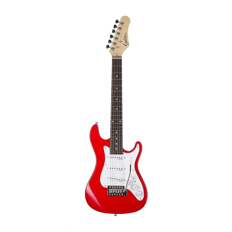 EAGLETONE Phoenix Junior guitarra eléctrica, rojo, 3/4: Amazon.es: Instrumentos musicales