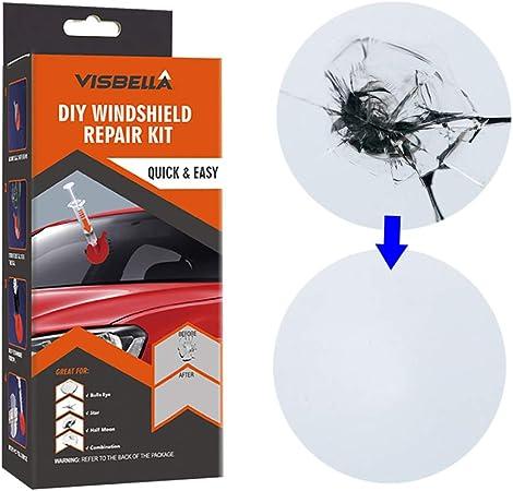 Visbella Windschutzscheiben Reparatur Set Diy Auto Fenster Reparatur Polieren Windschutzscheibe Glas Erneuerungswerkzeug Plastic Paper Auto