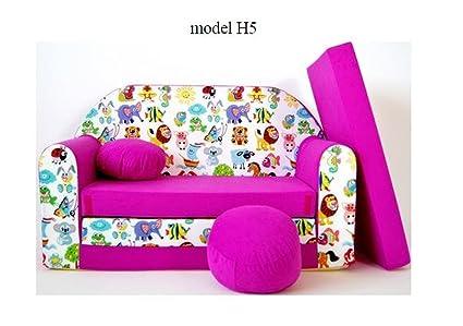 articolicasaonline Sofá niños sofá cojín y Puff Mini sofá ...