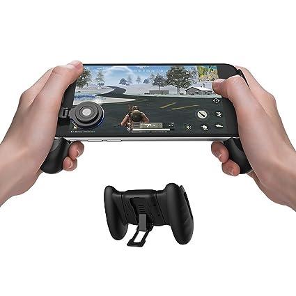 GameSir F1 Mobile PUBG Joystick Controller Grip Case for Smartphones,  Mobile Phone Gaming Grip with Joystick, Controller Holder Stand Joypad with