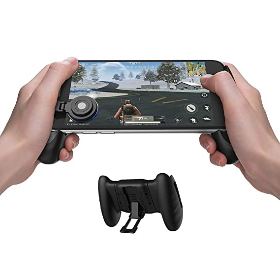 GameSir F1 Mobile PUBG Joystick Controller Grip Case for Smartphones,  Mobile Phone Gaming Grip with Joystick, Controller Holder Stand Joypad with