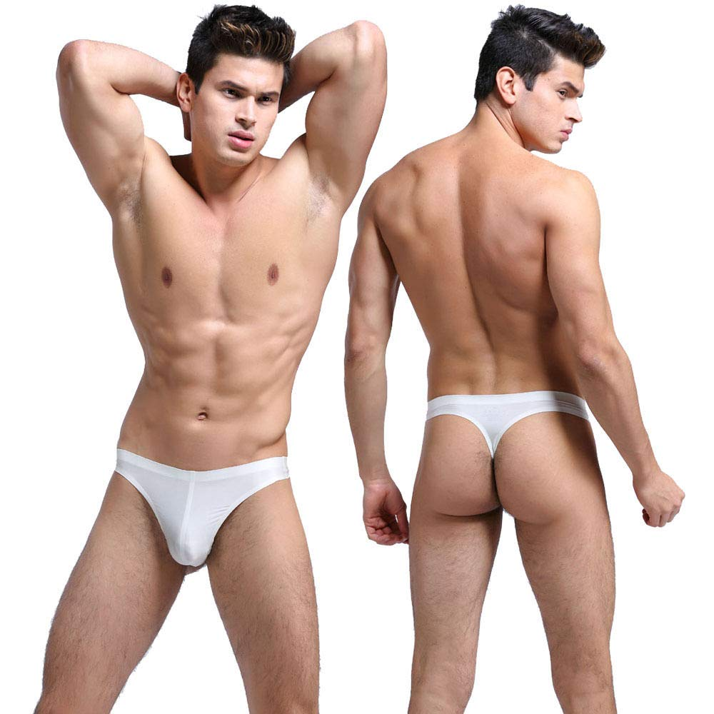 FidgetFidget Underwear Brief Seamless Low-rise Thong 7 Colors for mensOne Color M