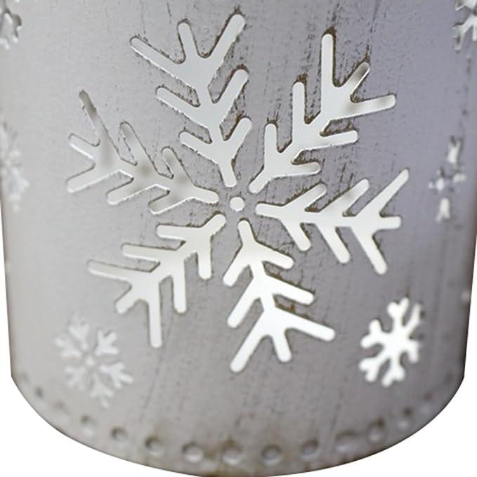 Christmas Tree Fer Wicemoon r/étro Vieux Bougeoir en fer forg/é Artisanat Arbre de No/ël Snow Cerf S/érie de Creative Ornements 8*9cm