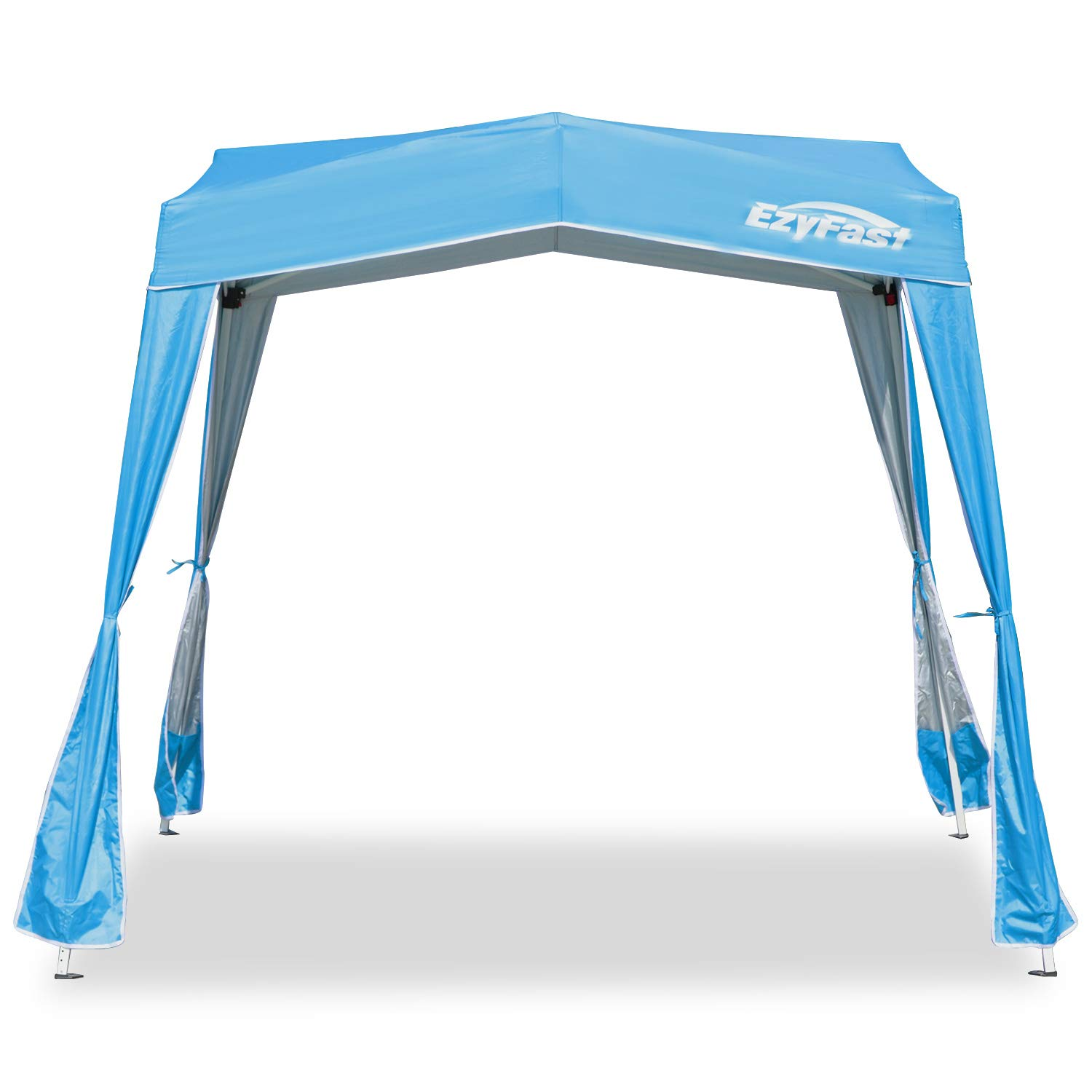 EzyFast Resort Style 10ft x 10ft Base / 8ft x 8ft Top Pop Up Gazebo, Portable Instant Canopy with Carry Bag, Sports Cabana for Hiking, Camping, Fishing, Picnic, Family Outings