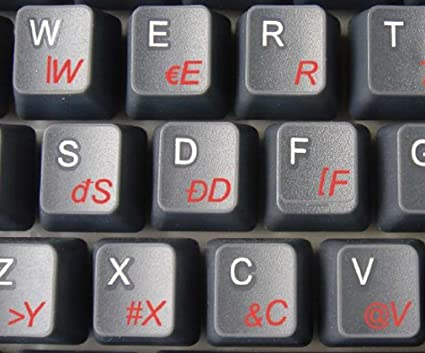 SLOVAK TRANSPARENT KEY STICKER RED
