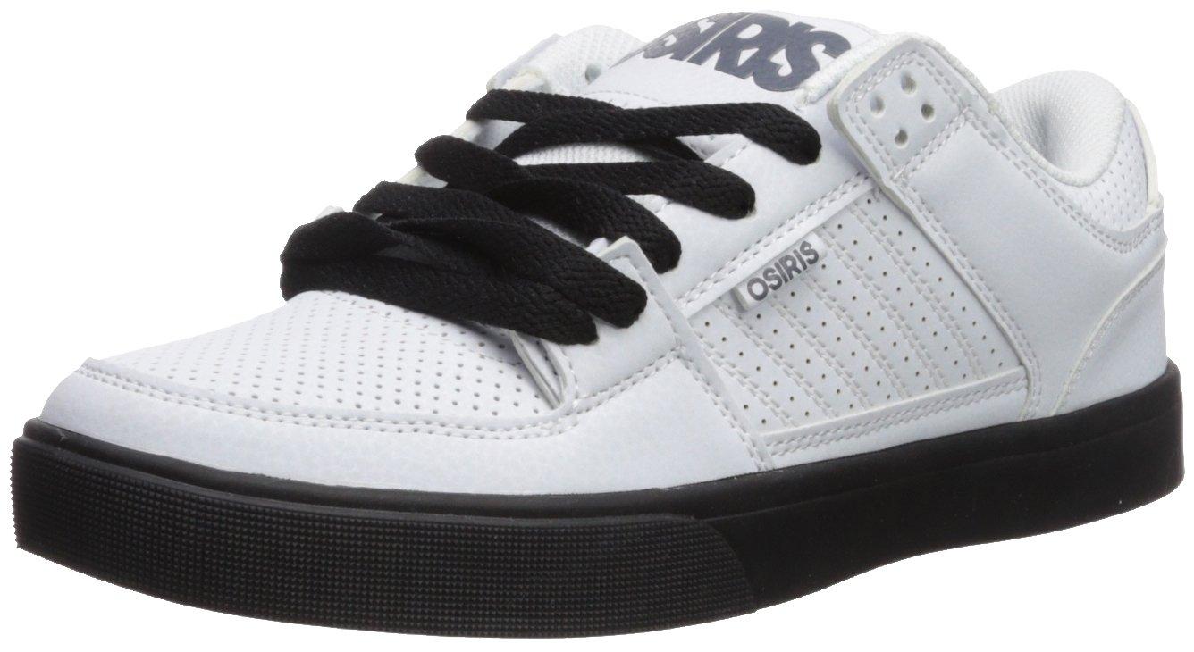 Osiris Men's Protocol Skateboarding Shoe 5 D(M) US|White/Black/Grey