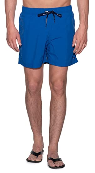 ca5b8be6be002 Tommy Hilfiger Medium Short De Bain Homme Bleu  Amazon.fr  Vêtements ...